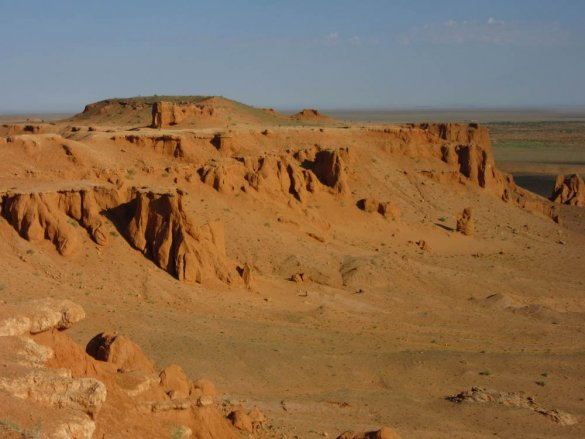Bayanzag area in the Gobi desert in Mongolia