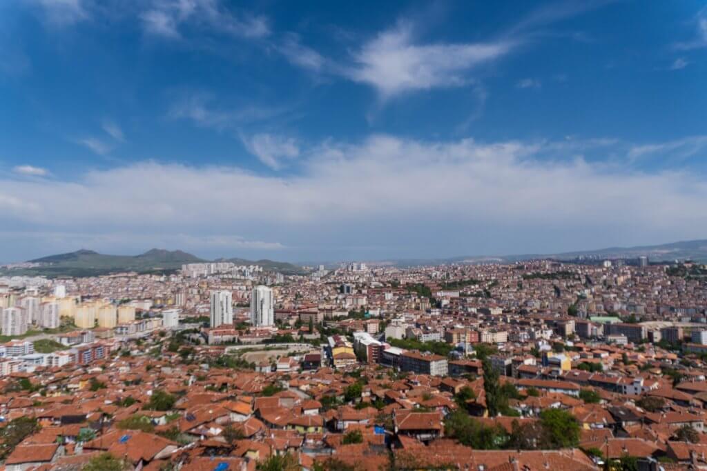 Uitzicht vanaf Ankara Kalesi