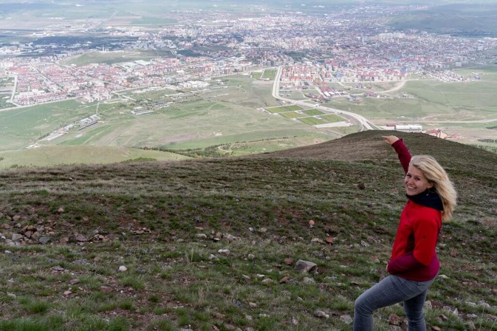 Erzurum vanaf de berg