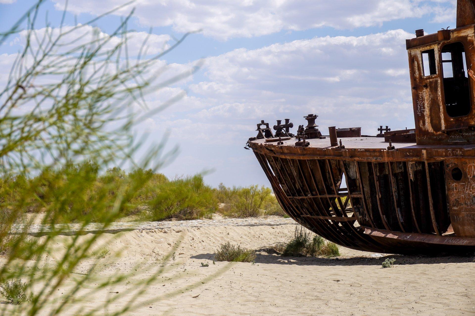 Moynaq bij het Aralmeer in Oezbekistan