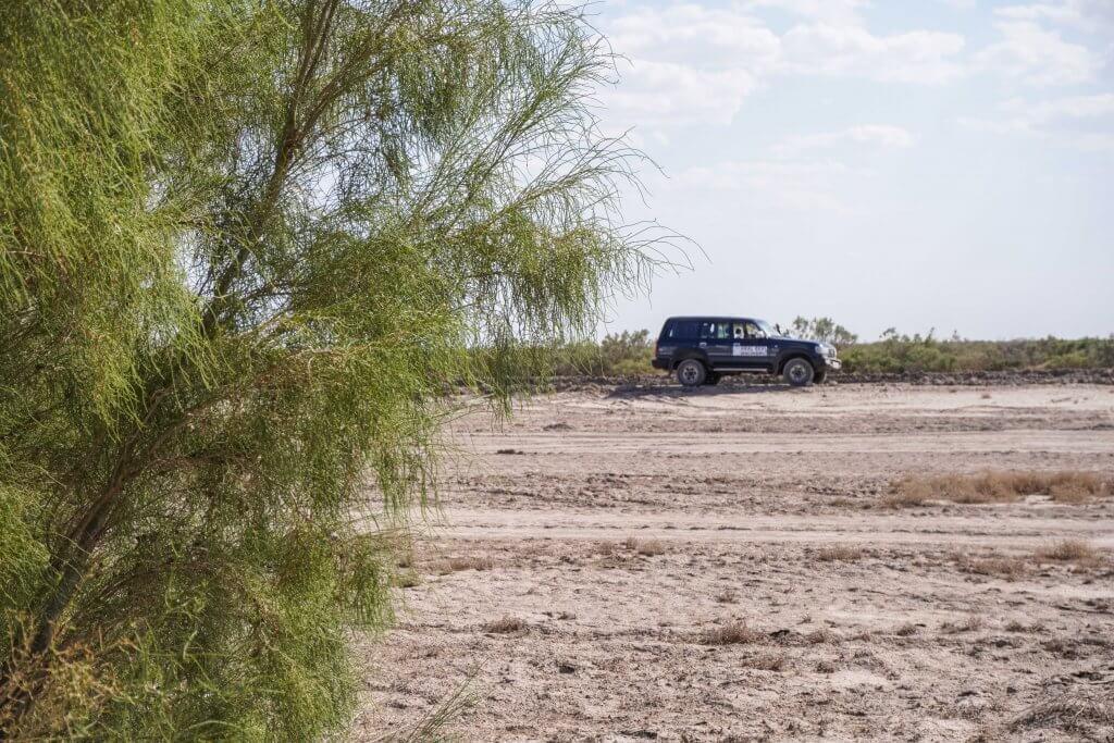 Het aralmeer in Oezbekistan