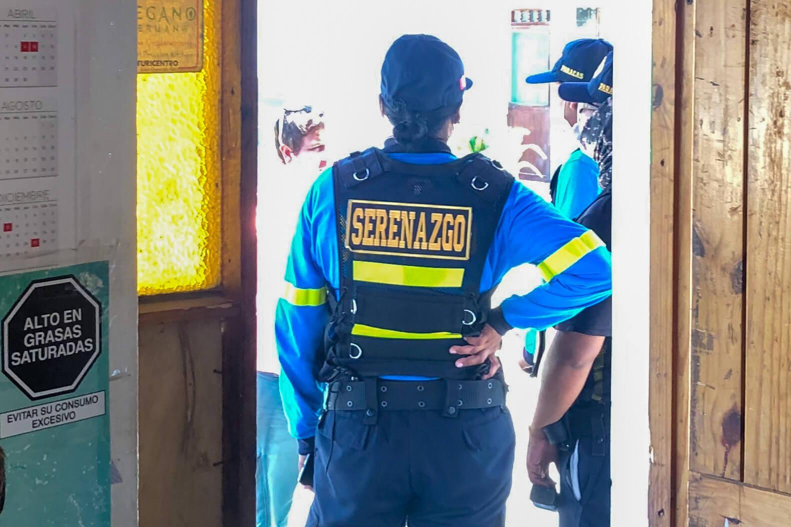 Politie tijdens de lockdown in Peru