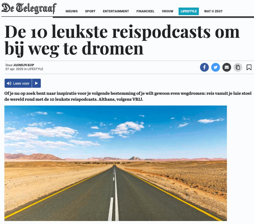 Along with Annika in de Telegraaf